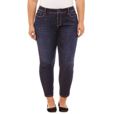 St. John's Bay Secretly Slender Skinny Ankle Jean - Plus