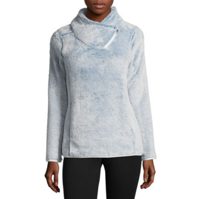 St. John's Bay Active Assymetrical Zip Cozy Pullover