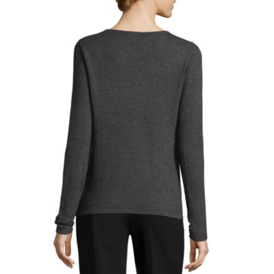 Worthington Long Sleeve Crew Neck Pullover Sweater