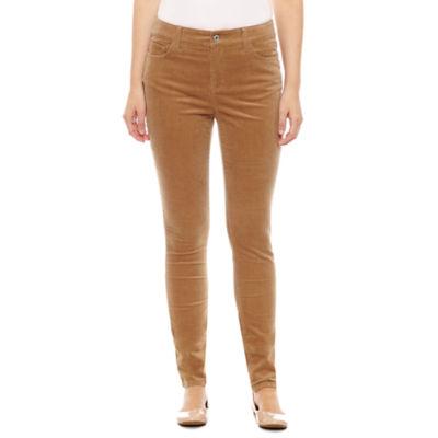 St. John's Bay Secretly Slender Skinny Leg Corduroy Pants