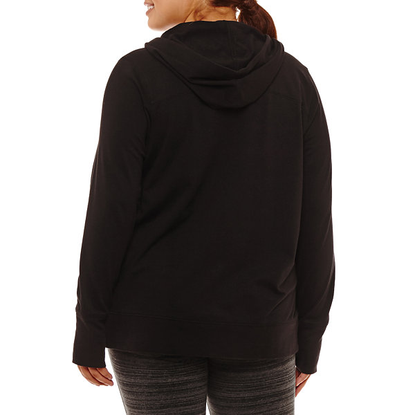 Xersion Long Sleeve Knit Hoodie Plus