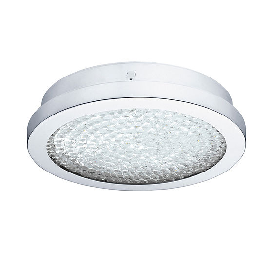 Eglo Arezzo 2 Led 11 Inch Chrome Flush Mount Ceiling Light