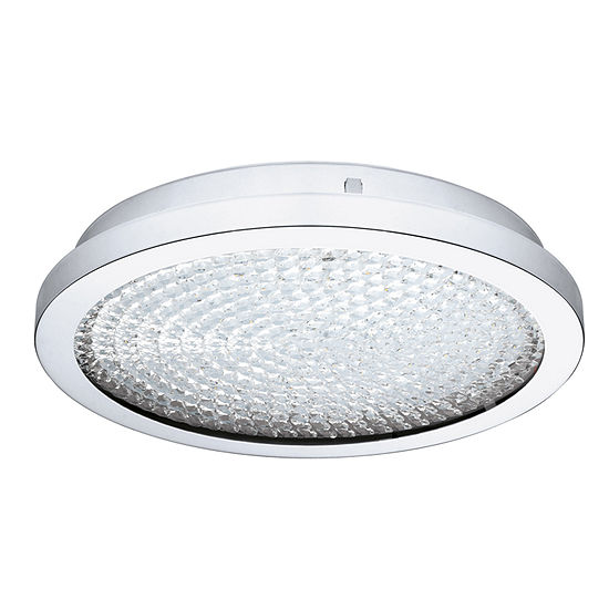Eglo Arezzo 2 Led 14 Inch Chrome Flush Mount Ceiling Light