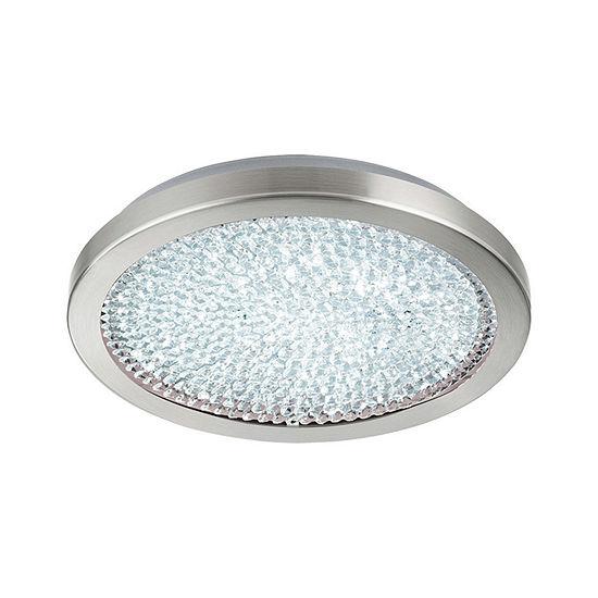 Eglo Arezzo 2 LED 14 inch Matte Nickel Flush MountCeiling Light