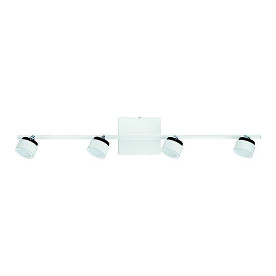 Eglo Armento 4-Light 120V White & Black Track Light Ceiling Light