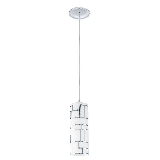 Eglo Bayman 1-Light 4 inch Chrome Mini Pendant Ceiling Light