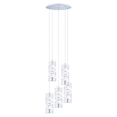 Eglo Bayman 5 Light 20 inch Chrome Pendant CeilingLight