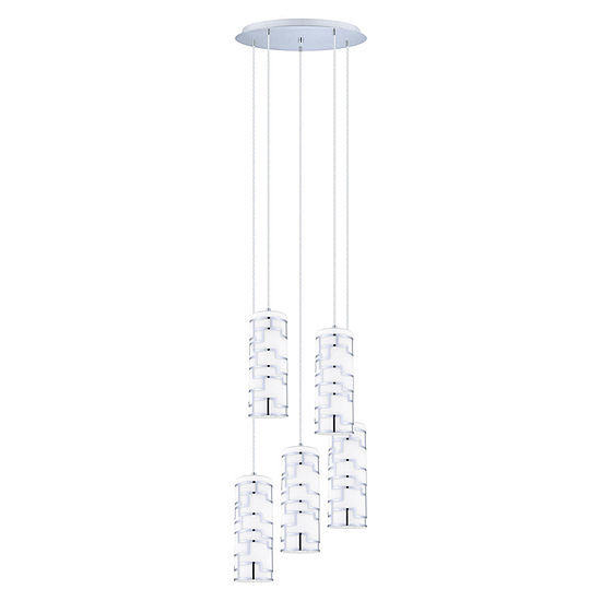 Eglo Bayman 5 Light 20 inch Chrome Pendant Ceiling Light