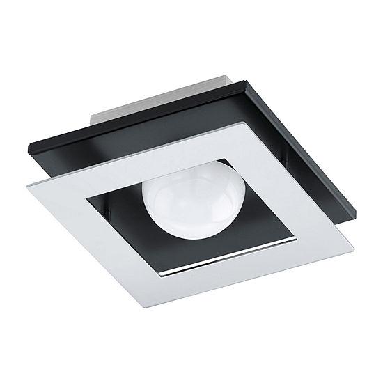 Eglo Bellamonte LED 6 inch Brushed Aluminum and Black Flush Mount Ceiling Light
