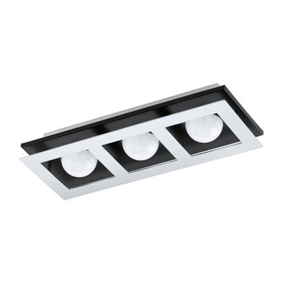 Eglo Bellamonte LED 6 inch Brushed Aluminum and Black Flush Mount Ceiling Light