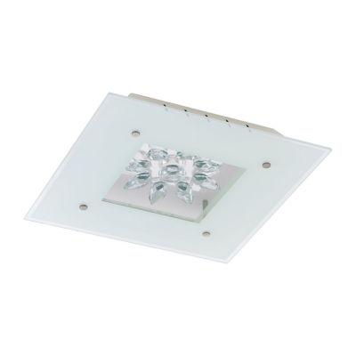 Eglo Benalua LED White w/ Clear Trim Flush Mount Ceiling Light