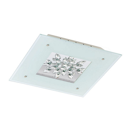 Eglo Benalua LED White w/ Clear Trim Flush Mount Ceiling Light