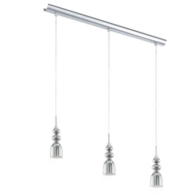 Eglo Bolanos LED 28 inch Chrome Linear Pendant Ceiling Light
