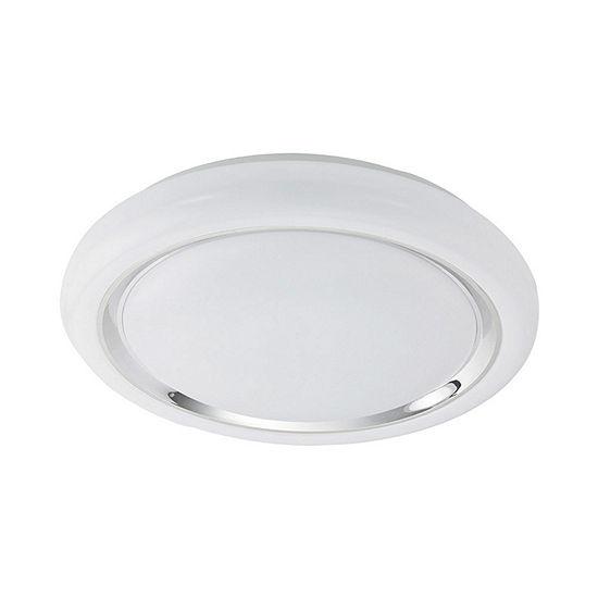 Eglo Capasso LED White and Chrome Flush Mount Ceiling Light