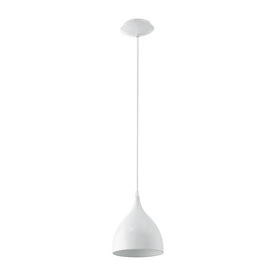 Eglo Coretto 1 Light 11 Inch Steel Glossy Whitependant Ceiling Light