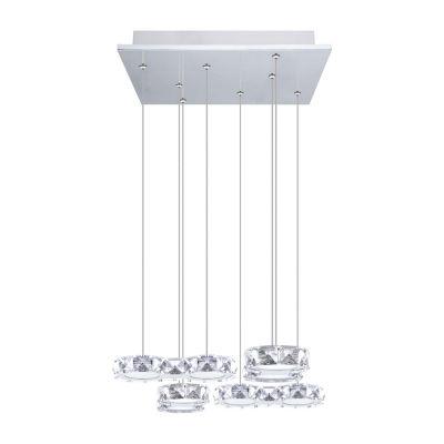 Eglo Corliano LED 16 inch Chrome Multi Light Pendant Ceiling Light