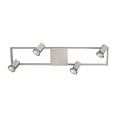 Eglo Zeraco 4-Light 120 V Satin Nickel Track Light Ceiling Light
