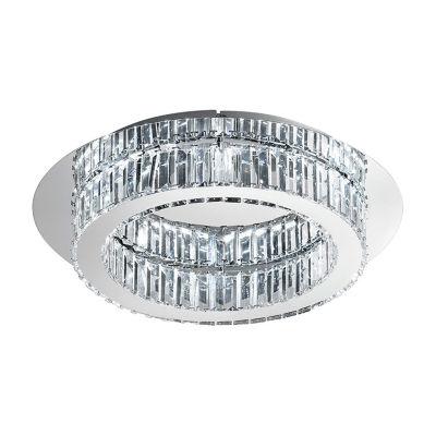 Eglo Corliano LED 20 inch Chrome Flush Mount RoundCeiling Light