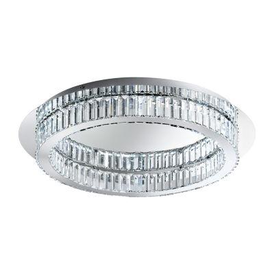 Eglo Corliano LED 28 inch Chrome Flush Mount Ceiling Light