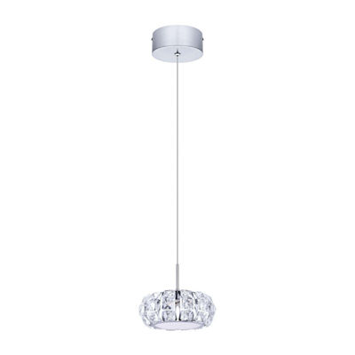 Eglo Corliano LED 6 inch Chrome Mini Pendant Ceiling Light