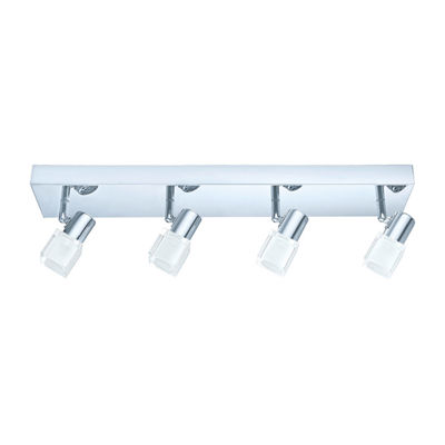 Eglo Nocera 4-Light 120V Chrome Track Light Ceiling Light