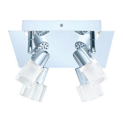 Eglo Nocera 4-Light 120V Chrome Track Light Ceiling Light