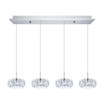 Eglo Corliano LED 7 inch Chrome Multi Light Pendant Ceiling Light