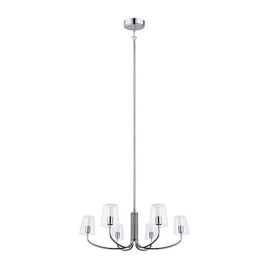 Eglo Noventa LED 29 inch Chrome Chandelier Ceiling Light