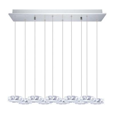 Eglo Corliano LED 8 inch Chrome Multi Light Pendant Ceiling Light
