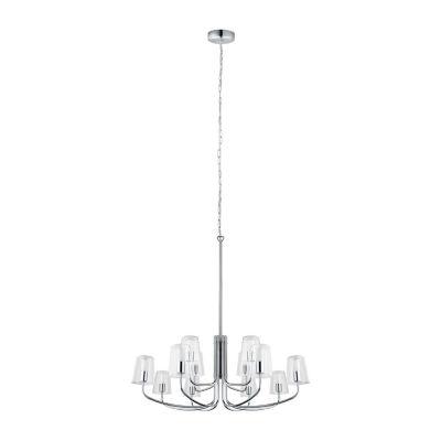 Eglo Noventa LED 33 inch Chrome Chandelier Ceiling Light
