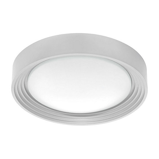 Eglo Ontaneda I Led 13 Inch Silver Flush Mount Ceiling Light