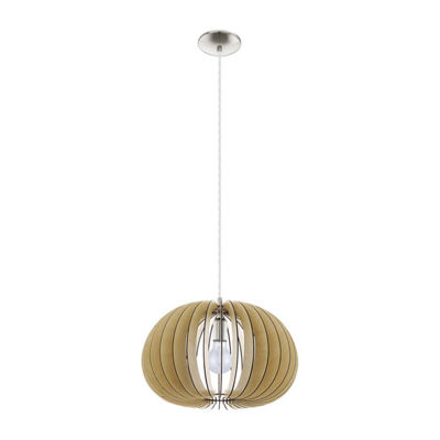 Eglo Cossano 1-Light 18 inch Matte Nickel Pendant Ceiling Light
