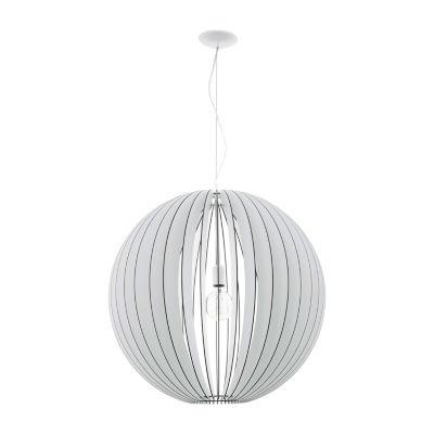 Eglo Cossano 1-Light 28 inch White Pendant CeilingLight