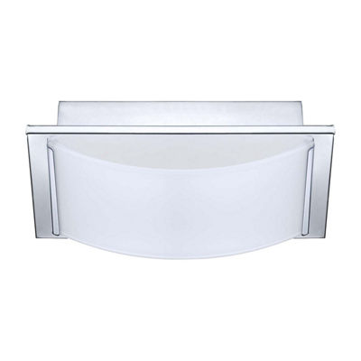 Eglo Wasao LED 8 inch Chrome Vanity Wall Ceiling Dual Mount Wall Light