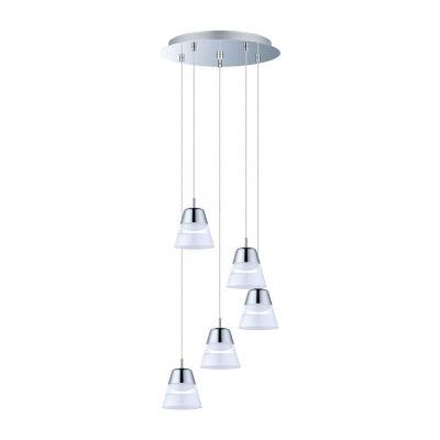 Eglo Pancento LED 14 inch Chrome Multi Light Pendant Ceiling Light