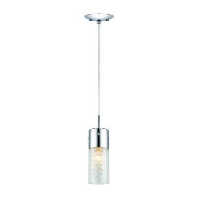 Eglo Diamond 1-Light 5 inch Chrome Mini Pendant Ceiling Light