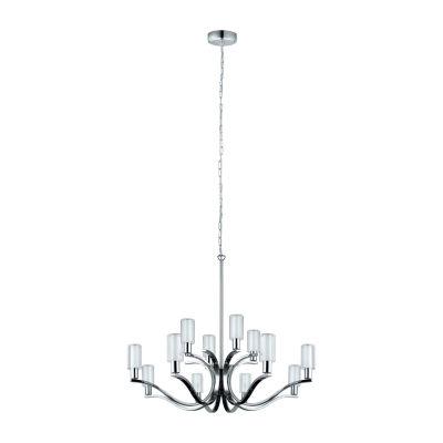 Eglo Varella LED 33 inch Chrome Chandelier Ceiling Light