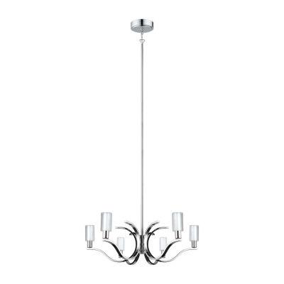 Eglo Varella LED 29 inch Chrome Chandelier CeilingLight