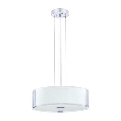Eglo Varano 3-Light 16 inch Chrome Large Pendant Ceiling Light