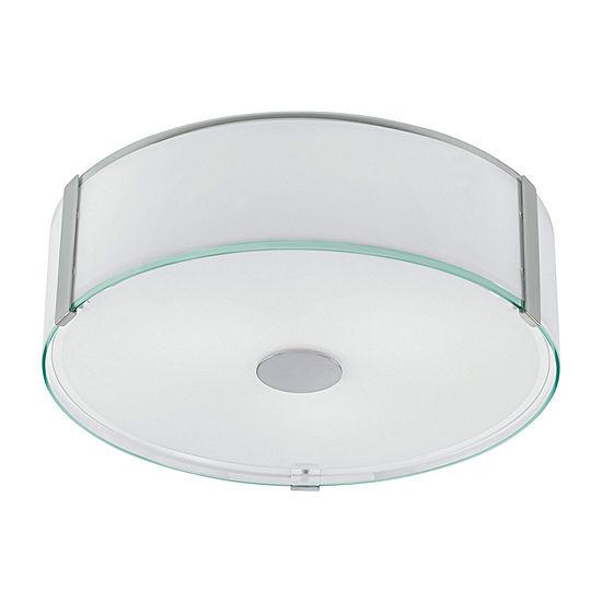 Eglo Varano 3-Light 16 inch Chrome Flush Mount Ceiling Light