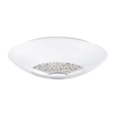 Eglo Ellera 2-Light Chrome Semi-Flush Mount Ceiling Light