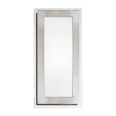 Eglo Eos 1-Light 6 inch Matte Nickel & Chrome WallLight