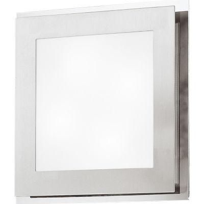 Eglo Eos 2-Light 12 inch Matte Nickel & Chrome Wall Light