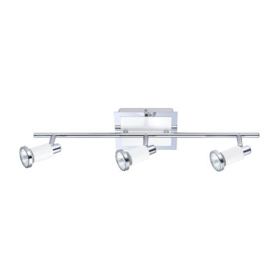 Eglo Eridan Chrome & Shiny White 50 watt 3-Light Spot Light