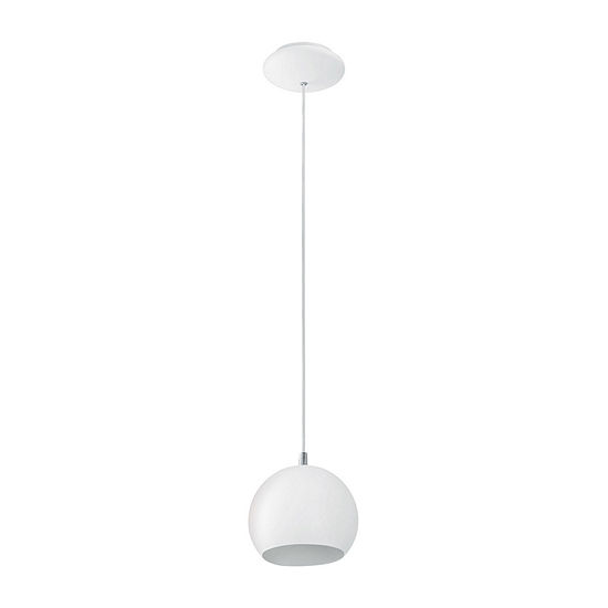 Eglo Petto 1-Light 6 inch Steel / White Pendant Ceiling Light