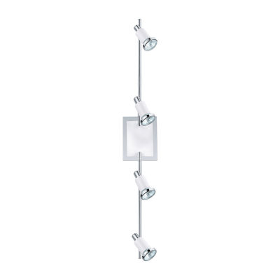 Eglo Eridan Chrome & Shiny White 50 watt 4-Light Spot Light