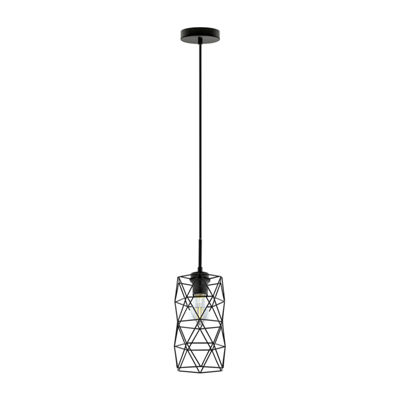 Eglo Estevau 2 1-Light 6 inch Matte Black Mini Pendant Ceiling Light