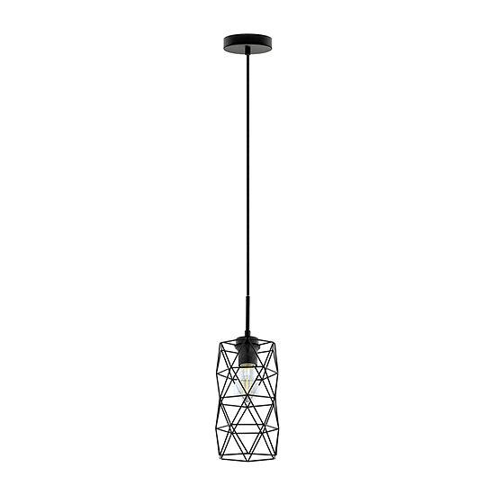 Eglo Estevau 2 1-Light 6 inch Matte Black Mini Pendant Ceiling Light