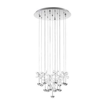 Eglo Pianopoli LED 20 inch Chrome Multi Light Pendant Ceiling Light