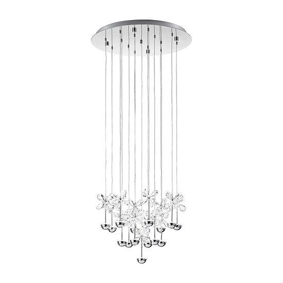 Eglo Pianopoli LED 20 inch Chrome Multi Light Pendant Ceiling Light